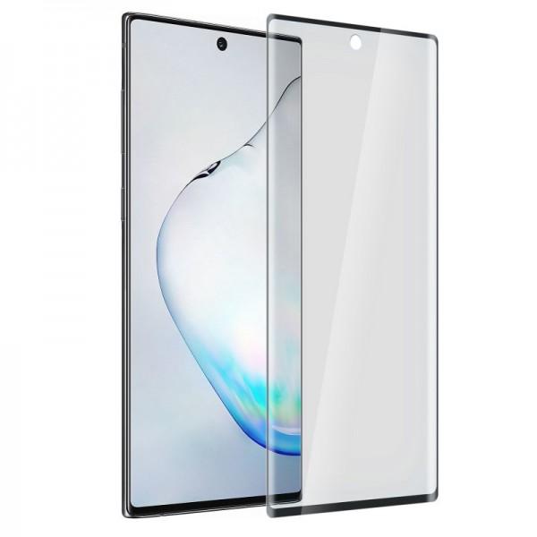 Folie de protectie sticla full screen 9H Samsung Galaxy Note 10 Plus AKASHI, Clear/ Black