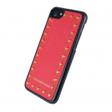 Husa Trussardi Studs Rigid Apple iPhone 6/6s/7/8, red/gold