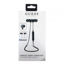 Casti audio in-ear Guess, Wireless, Bluetooth, Magnetice, Black