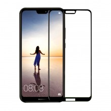 Folie protectie sticla 5D Full Cover Huawei P20 Lite Black