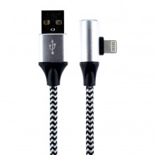 Cablu 2in1 Lightning pentru iPhone cu Audio Output & Charging Function impletit Black/White