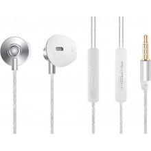 Casti Premium cu microfon AKASHI EarPods, Jack 3.5mm, Silver