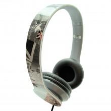 Casti stereo pliabile cu microfon AKASHI London print