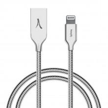 Cablu Premium Metalic AKASHI Apple Lightning certificat MFI 1m Silver