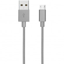 Cablu impletit AKASHI Micro USB Grey