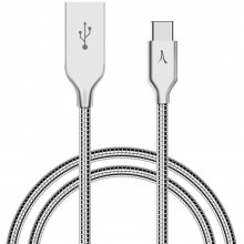 Cablu Premium Metalic AKASHI USB-C 1m Silver