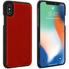 Husa de piele AKASHI ITALIEN ROUGE iPhone Xs/X, Rosu