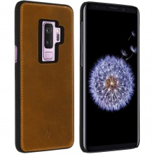 Husa de piele AKASHI ITALIEN NOIR Samsung Galaxy S9 Plus, Maro