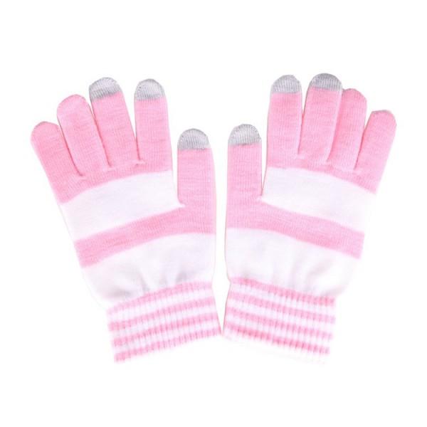 Manusi dama, AKASHI, compatibile cu telefoanele touchscreen, S/M, Pink/White