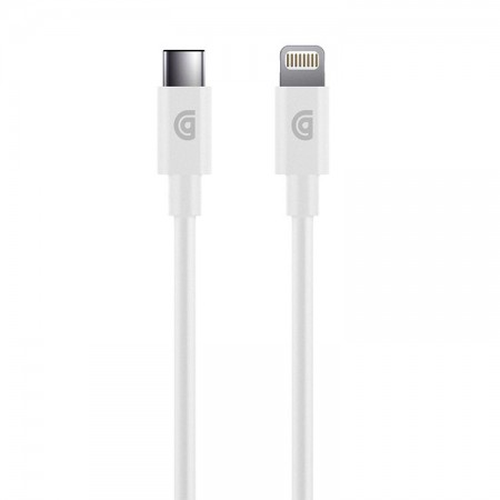 Cablu Griffin 1.2m Apple Lightning to USB-C, Charge/Sync, white