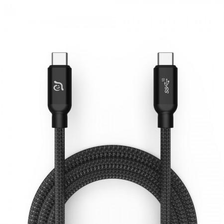 Cablu 1m Adam Elements CASA C100+ USB-C la USB-C, 100W, 10Mbs, Black