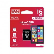 Card de memorie Goodram Micro SD 16GB ,Clasa 10 + Adaptor + Ambalaj Retail