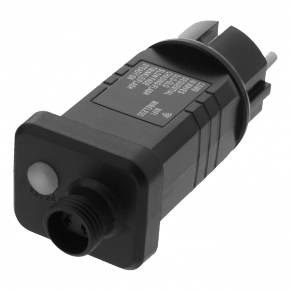 Adaptor de alimentare smart pentru iluminat cu LED, DELTACO SMART HOME, WiFi 2.4 Ghz, interior / exterior, IP-44, negru