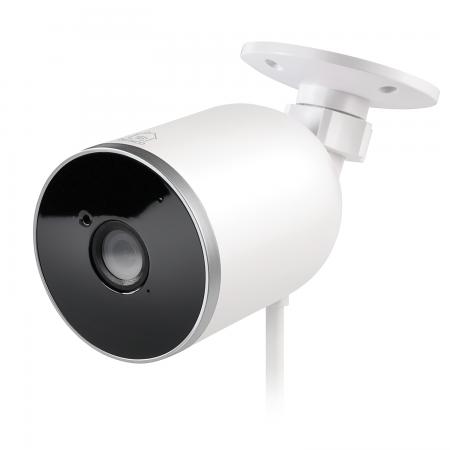 "Camera supraveghere smart DELTACO, pentru exterior, IP65, 1080p, WiFi 2.4GHz, IR 10m, 1 / 2.7 ""CMOS, microSD, alb"