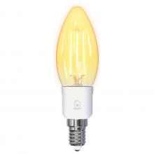 Bec inteligent cu filament LED - DELTACO SMART HOME C35, E14, WiFi 2.4GHz, 4.5W, 400lm, reglaj continuu, 1800K-6500K, 220-240V