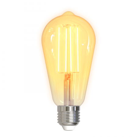 Bec inteligent cu filament LED - DELTACO SMART HOME ST64, E27, WiFi 2.4GHz, 5.5W, 470lm, reglaj continuu, 1800K-6500K, 220-240V