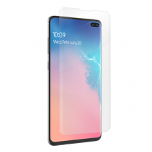 Folie de protectie Samsung Galaxy S10 Plus, ZAGG InvisibleShield HD Ultra, Case Friendly, Clear