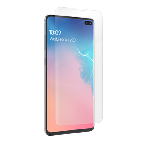 Folie de protectie Samsung Galaxy S10 Plus, ZAGG InvisibleShield HD, Case Friendly, Clear