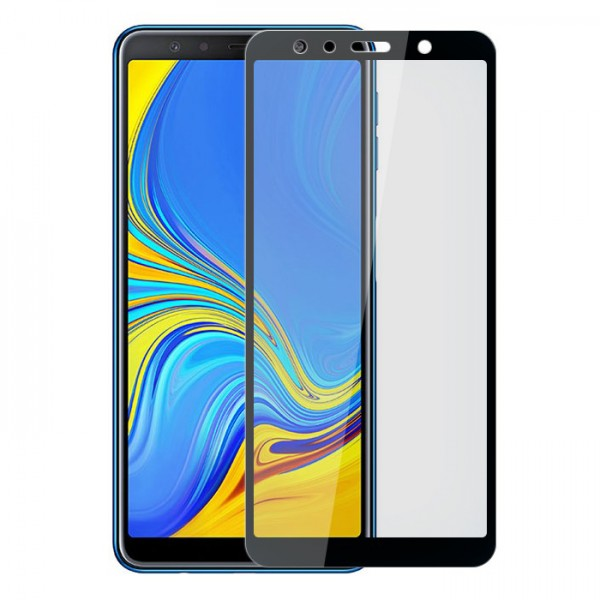 Folie de protectie Samsung Galaxy A7 2018 full screen AKASHI Black