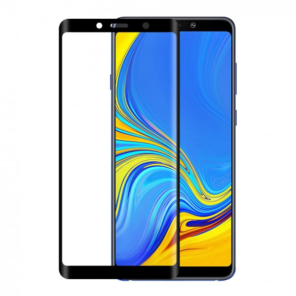 Folie de sticla Samsung Galaxy A9 2018 full screen NEVOX NEVOGLASS Black