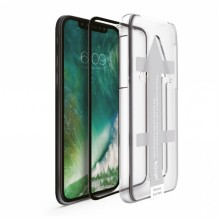 Folie Apple iPhone Xr sticla cu aplicator NEVOX NEVOGLASS 3D Black