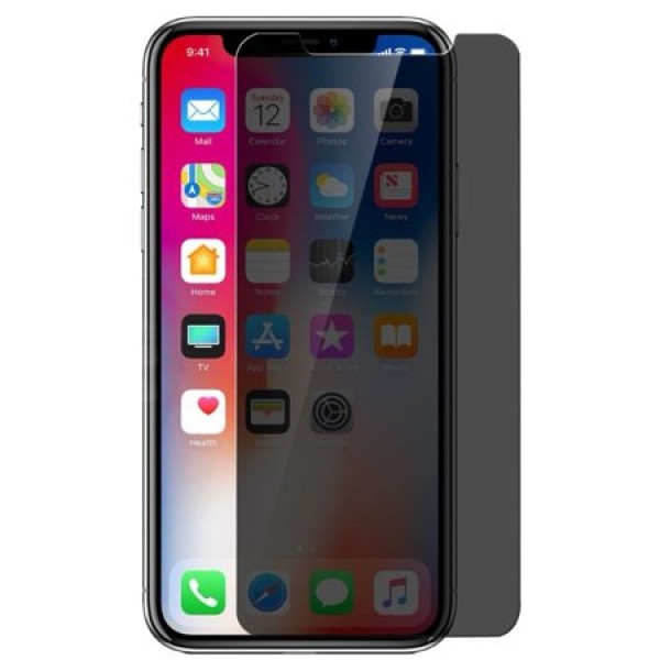 Folie de sticla Privacy Apple iPhone Xs / X 5D, Black