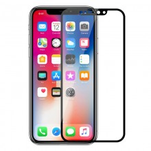 Folie de protectie iPhone Xs / X full screen 3D AKASHI Black