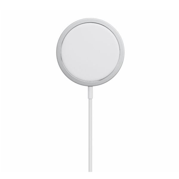 Incarcator magnetic wireless MagSafe pentru Apple iPhone 12 Pro Max / 12 Pro / 12 / 12 Mini, Alb