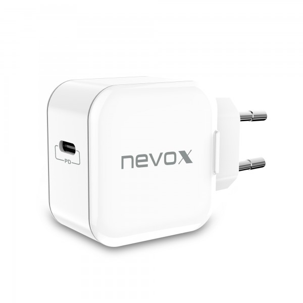 Incarcator priza fast charge 20W NEVOX, USB-C Power Delivery, alb