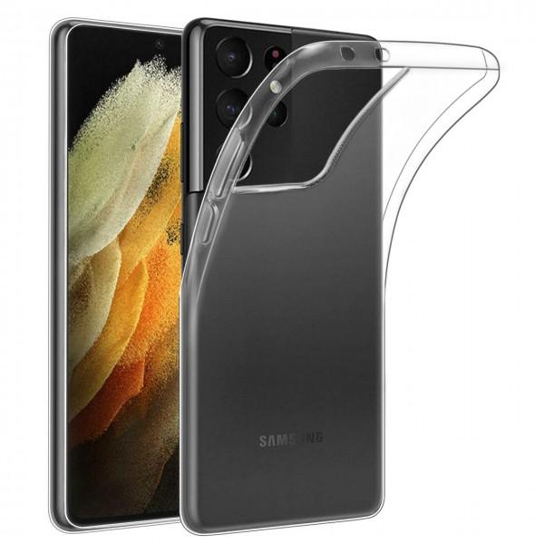 Husa slim de silicon NEVOX StyleShell Flex pentru Samsung Galaxy S21 Ultra, Transparent