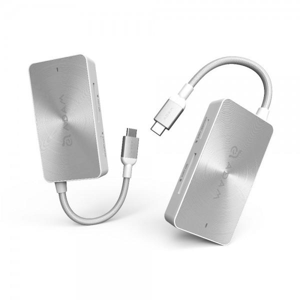 Adaptor Adam Elements CASA HUB PDC501- USB 3.1, USB-C, 5 Ports, Silver