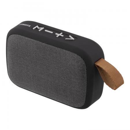 Boxa portabila Bluetooth STREETZ, Bluetooth 4.2, USB / TF / AUX / FM / microfon incorporat, negru