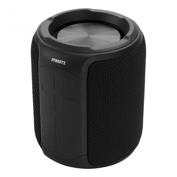 Boxa portabila Bluetooth Streetz rezistenta la apa, TWS, 10W, IPX7, microfon incorporat, negru
