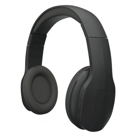 Casti audio wireless On-ear pliabile Qnect Q04 BT, cu microfon integrat - negru
