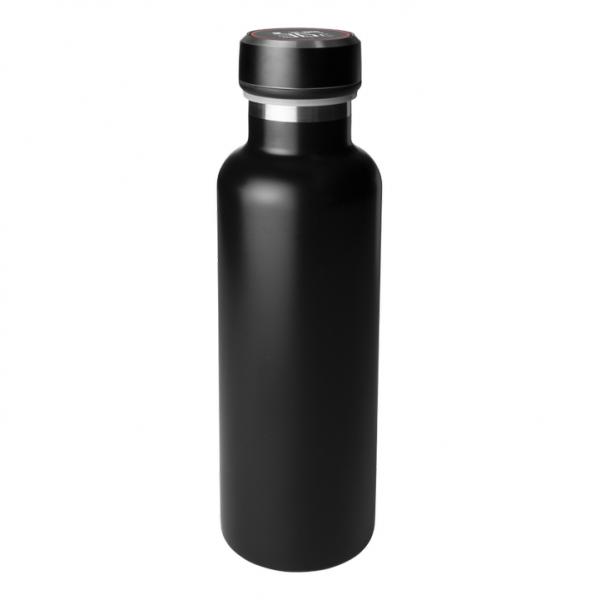 Termos smart GadgetMonster Smart Bottle, cald 12h / rece 24h,indicator LED temperatura,750 ml, negru