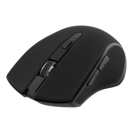 Mouse wireless ergonomic DELTACO, Bluetooth, 5 butoane, 1600 DPI, nano-receptor USB, negru