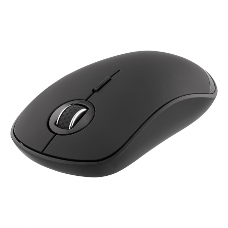 Mouse wireless silentios DELTACO, Bluetooth, 800-1600 DPI, 125 Hz, negru