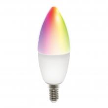 Bec smart LED RGB DELTACO SMART HOME, E14, WiFI 2.4GHz, 5W, 470lm, reglabil, Google Assistant si Amazon Alexa, 2700K-6500K, 220-240V, alb