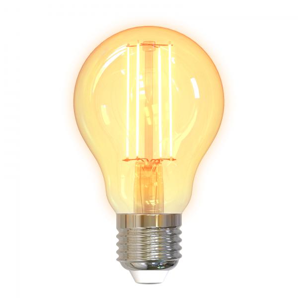 Bec smart LED filament DELTACO SMART HOME, E27, WiFI 2.4GHz, 5.5W, 470lm, reglabil, 1800K-6500K, 220-240V
