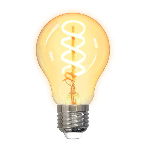 Bec smart LED spiral filament DELTACO SMART HOME, E27, WiFI 2.4GHz, 5.5W, 470lm, reglabil, 1800K-6500K, 220-240V