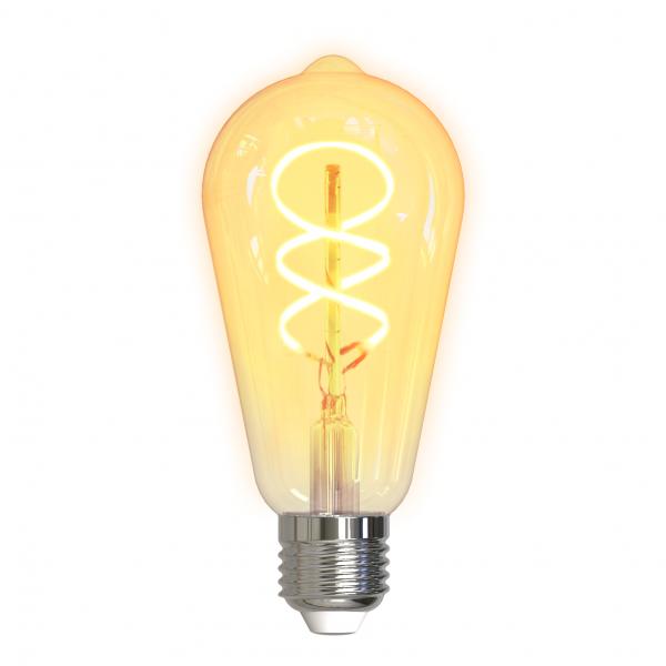 Bec smart LED filament spirala DELTACO SMART HOME, E27, WiFI 2.4GHz, 5.5W, 470lm, reglabil, 1800K-6500K, 220-240V