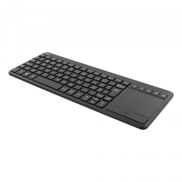 Tastatura wireless mini cu touchpad DELTACO, membrana, receptor nano USB, negru