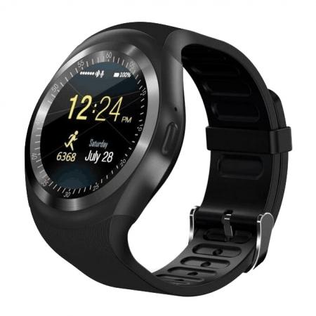 Ceas smartwatch TrendGeek TG-SW1, SIM, fitness tracker, microSD, negru