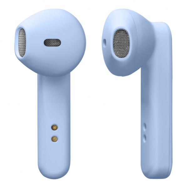 Casti stereo True Wireless STREETZ cu carcasa de incarcare, in ear, BT 5, albastru mat