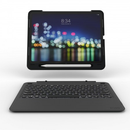 Tastatura iluminata ZAGG Slim Book Go pentru Apple iPad Pro 12.9 (3rd gen) Black