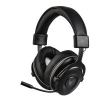 Casti de gaming wireless L33T Muninn (Odin's Armory) 2.4 Ghz, 50mm, microfon retractabil pentru eliminarea zgomotului, negru