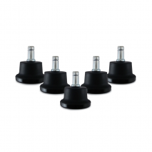 Set 5 pad-uri antiderapante L33T pentru scaune de gaming, negru