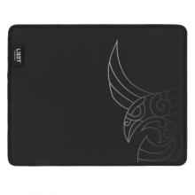 Mousepad de gaming L33T Arcturus, suprafata rapida de panza, margini cusute, baza de cauciuc, 270x215x3mm, negru