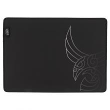 Mousepad de gaming L33T Aurvandil, suprafata rapida de panza, margini cusute, baza de cauciuc, 355x255x3mm, negru