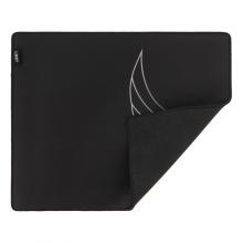 Mousepad de gaming L33T, suprafata rapida de panza, margini cusute, baza de cauciuc, 444x355x4mm, negru